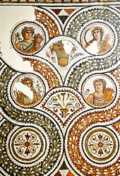 Roman Mosaic: The Four Seasons