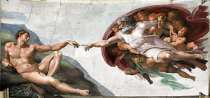 Part of the Sistine Chapel, Michelango