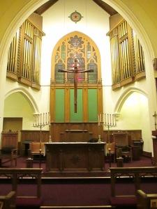 Altar area, St. Matthew's Lutheran