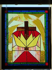 Church Window in Greenville Alliance Church, Greenville, PA sanctuary.